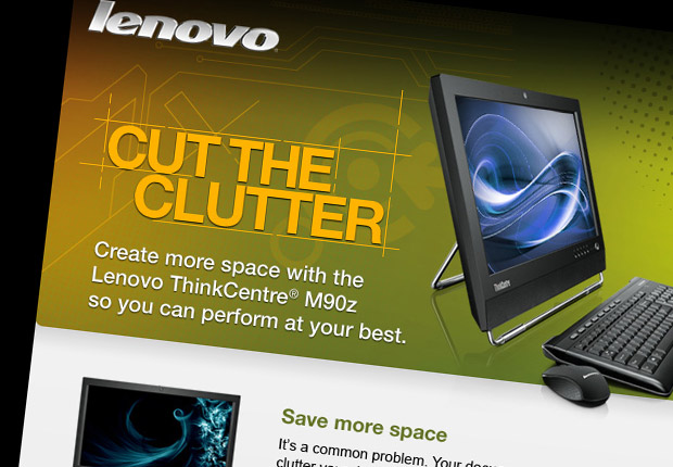 Lenovo Cut the Clutter