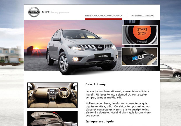 nissan murano email marketing. Black Bedroom Furniture Sets. Home Design Ideas